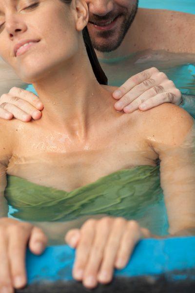 sensual pool massage