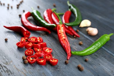 chili peppers and spice