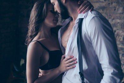 a girl kissing her partner