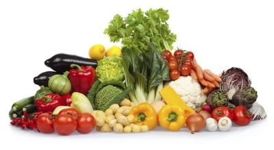 fruit vegetable isolated on white