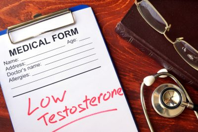 Medical form indicating low testosterone