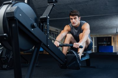 gym workout rowing